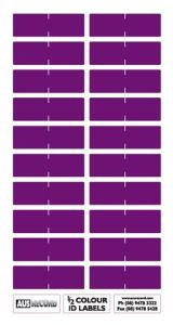 Half size Colour ID Labels. Purple