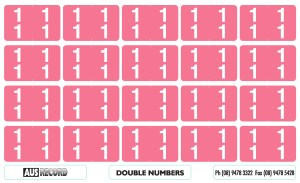 Double Number Labels. 11. Pink