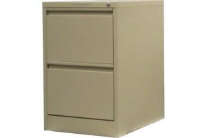 2 drawer steel filing cabinet in beige