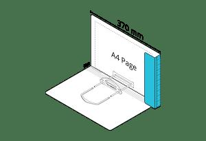 2D File Light Blue with LP Tube Clip