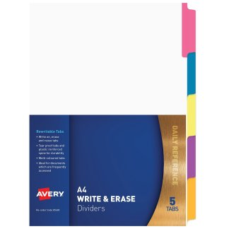 avery write erase dividers 85600