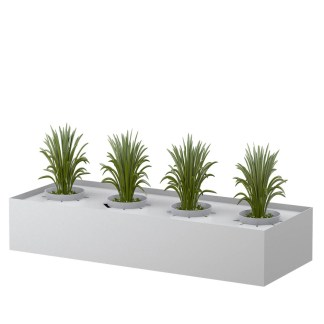 STEELCO Planter Box for Tambour cabinets 225H x 1200W x 463D White Satin