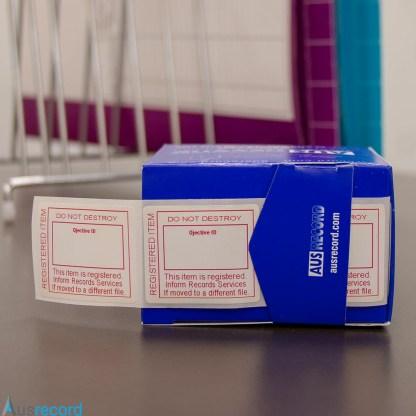 ausrecord registered item do not destroy labels