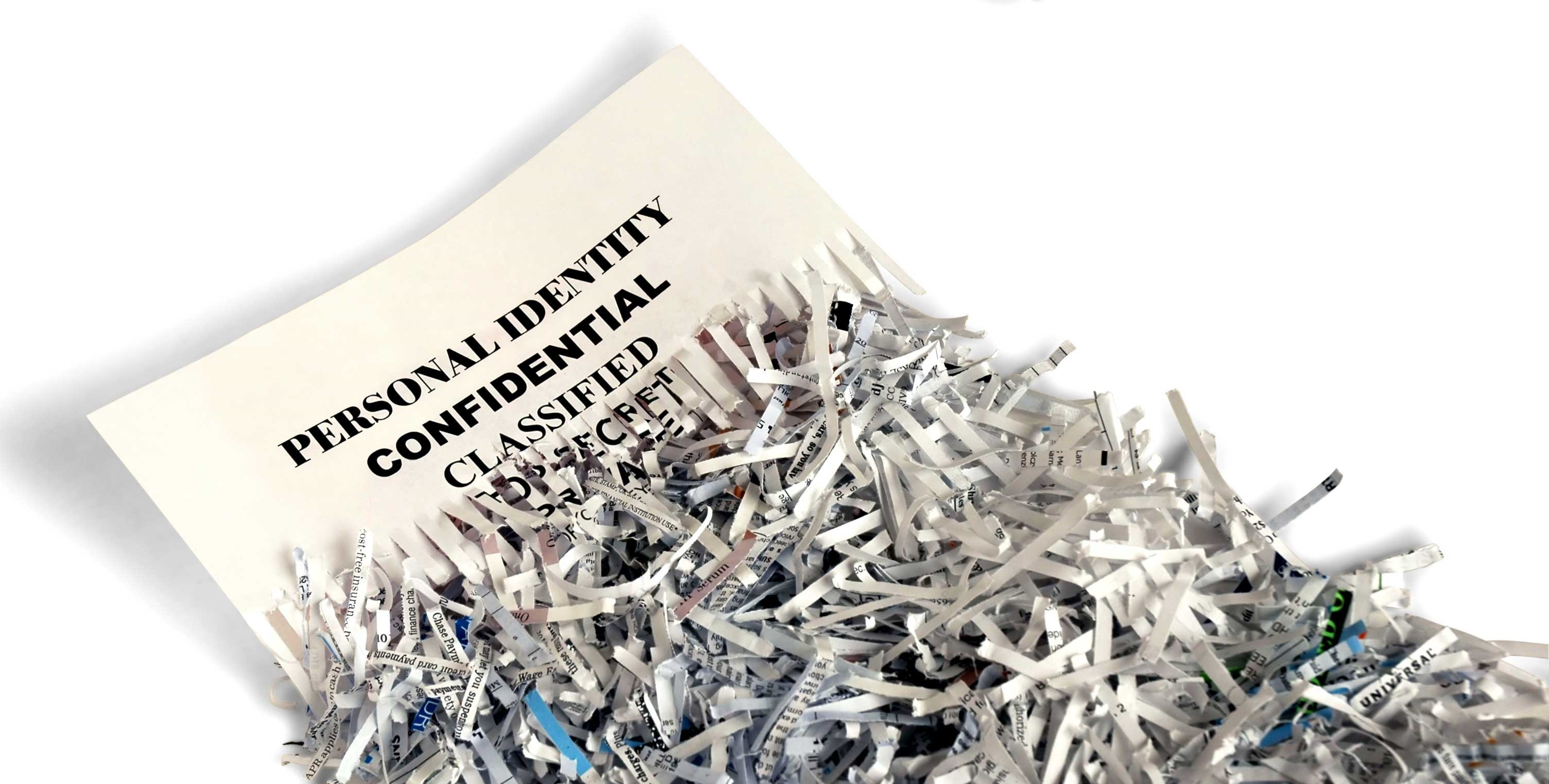 shredding personal confidential secret paperwork secure document destruction