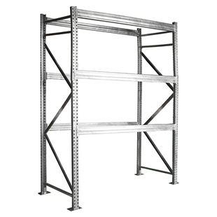 Galvanized Rivet Rack Shelving