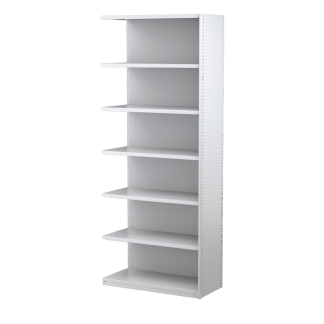 Ausrecord Steel Bookcase Shelving Add-on Bay 900mm Wide White