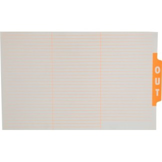Ausrecord File out guide card Foolscap Orange