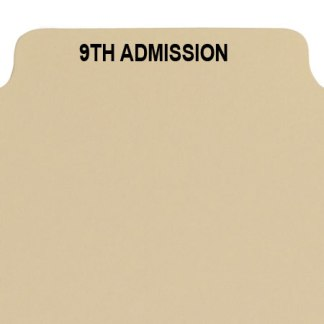 9th admission divider buff manilla