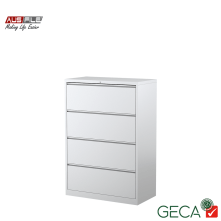 Ausfile 4 Drawer Lateral Filing Cabinet White