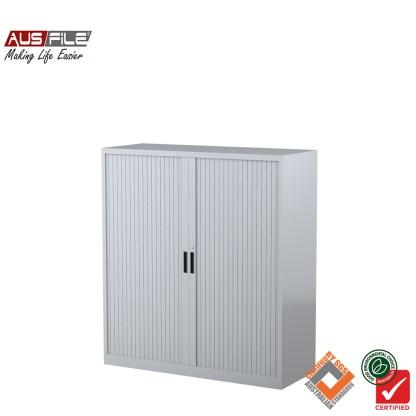 Ausfile tambour door cabinets silver grey 1340mm H x 1200mm W
