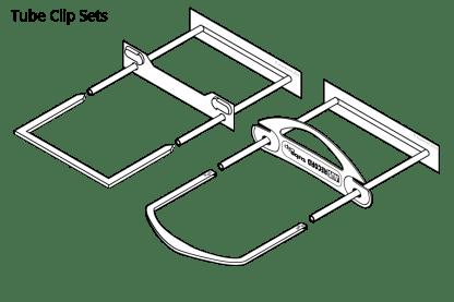 Ausrecord tube clips