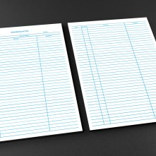 Progress Notes Mockup A4 front and back