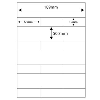 TRIM labels for record management software. 100 A4 sheets per pack, 4 sets of labels per sheet.