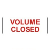 Volume Closed Labels
