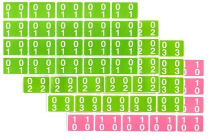 Ausrecord double number labels