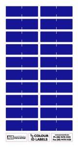Half size Colour ID Labels. Dark Blue