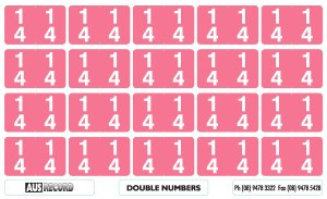 Double Number Labels. 14. Pink