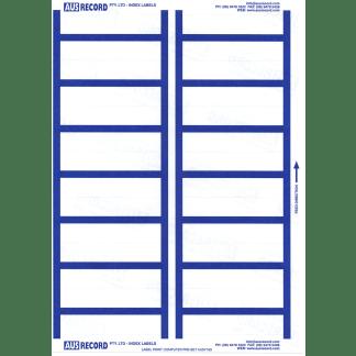 Ausrecord Index labels, 14 per A4 sheet
