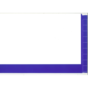 2d dark blue colour flap and spine file for colour coded filing