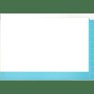 2d light blue colour flap and spine file