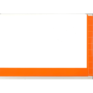 2d orange colour flap and spine file