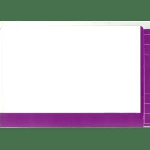 2D purple colour flap and spine file