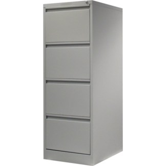 4 drawer steel filing cabinet in grey