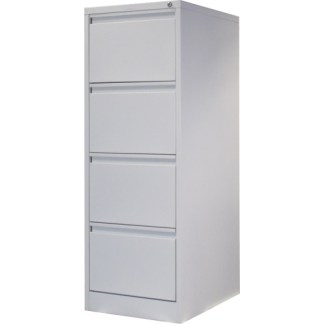 4 drawer steel filing cabinet in white