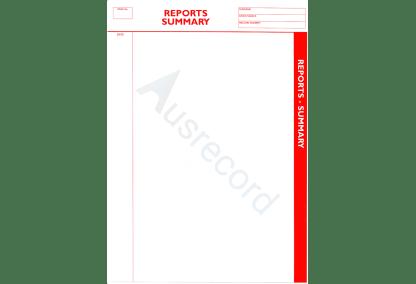 ausrecord reports summary