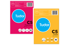 Tudor C5 Peel and Seal envelopes. Available in White and Gold varieties.