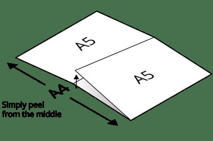 A5 label peeling instructions