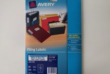 Avery L7172 filing labels light blue