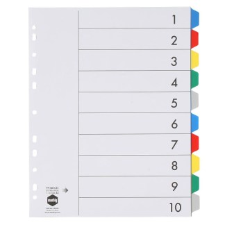 Marbig Extra wide 10 tab dividers