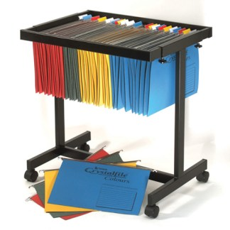 crystalfile filing trolley
