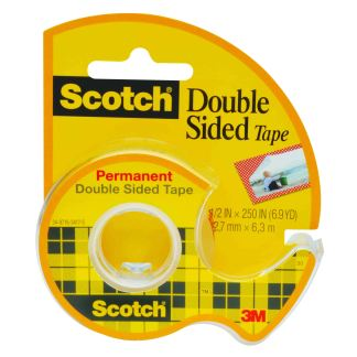 scotch double-sided tape 12.7mm x 6.3m with included dispenser