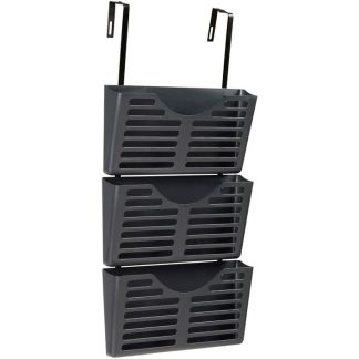 Esselte verticalmate file pocket 3 pack with hanger kit grey empty
