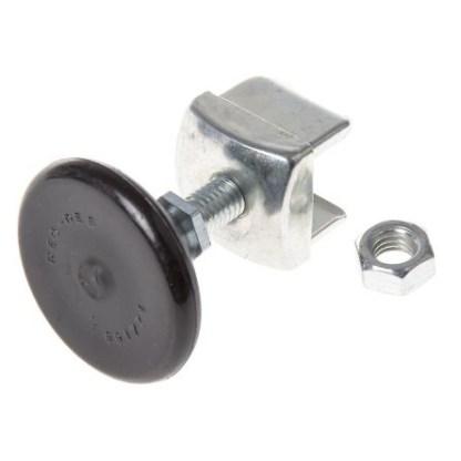 adjustable rubber foot for rivet rack shelving
