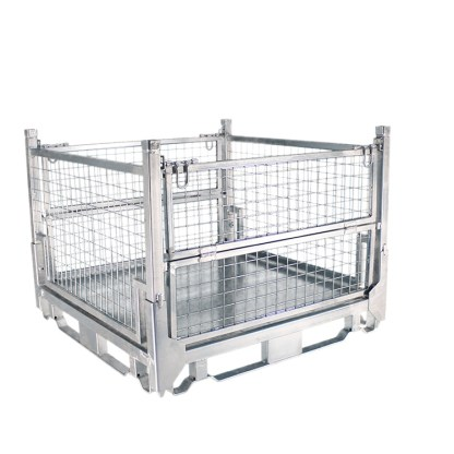 Pallet Cage Type A Medium sheet steel floor zinc plated all sides up