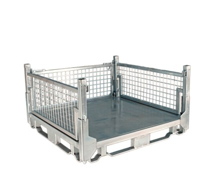 Pallet Cage Type A Sheet steel floor zinc plated front side removed
