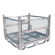Pallet Cage Type A Single Medium Mesh Floor Zinc Plated all sides up
