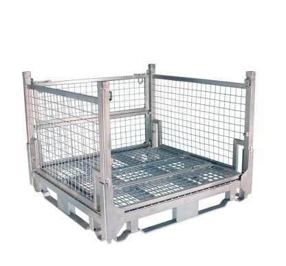 Pallet Cage Type A Single Medium Mesh floor hot dip galvanised one full side down