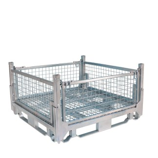 Pallet Cage Type A Single Mesh Floor Zinc Plated all sides up
