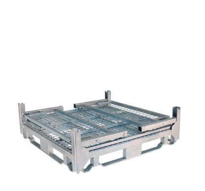 Pallet Cage Type A Single Mesh floor hot dip galvanised all sides folded down