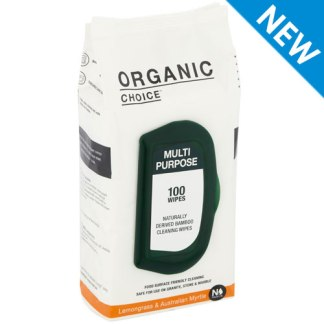 Organic Choice Multi Purpose Wipes Lemongrass & Australian Myrtle