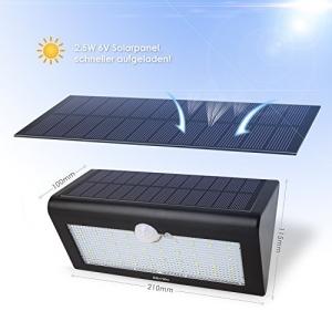 Solar Außenleuchte mit Bewegungsmelder