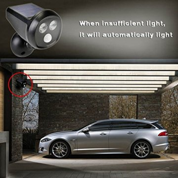 Deallink Solarbetriebene LED Außenleuchte mit Bewegungsmelder, Kabellos, Wasserdicht Wandleuchte Scheinwerfer, perfekt als Sicherheitsbeleuchtung für Garten, Lagerhallen, Einfahrt, Terrasse usw. - 7