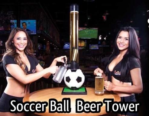 Soccerball Beer Tube