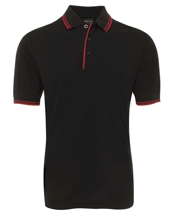 Contrast Polo - Black/Red