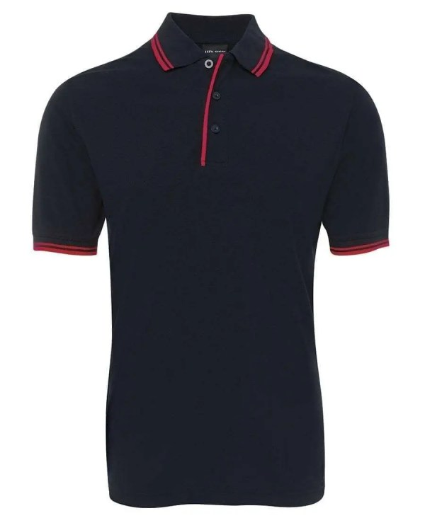 Contrast Polo - Navy/Red