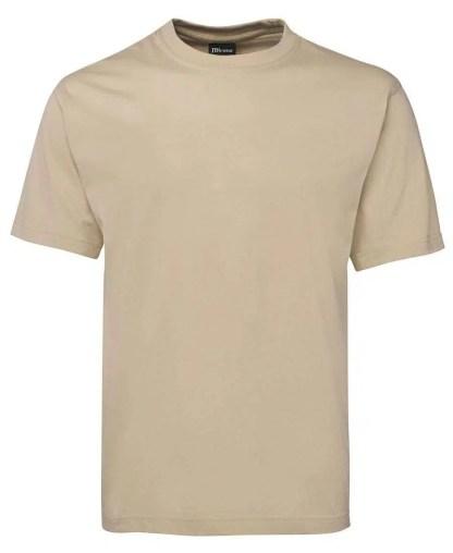 Round Neck T Shirts - Bone